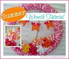 summer pool noodle wreath tutorial