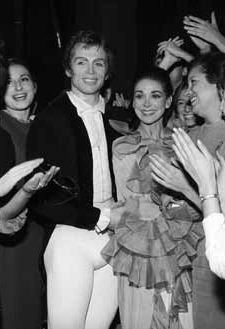 Fonteyn & Nureyev after a performance of Marguerite and Armand at La Scala in Milan, 1966.