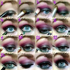 How to Get Bold Evening Makeup for Blue Eyes | Makeup Tips by Makeup Tutorials at http://www.makeuptutorials.com/makeup-tutorial-12-makeup-for-blue-eyes