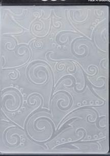 Scroll Background Embossing Folder By Darice