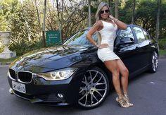 #BMW #F30 #320i #Sedan #Black #Pearl #White #Angel #Fitness #Model #Brazilian #BrunaGravina #Sexy #Hot #Provocative #Live #Life #Love #Follow #Your #Heart #BMWLife