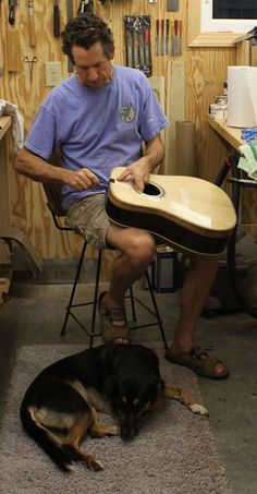 a luthier and his dog