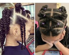 Little Girl Hairstyles Little Girls Natural Hairstyles, Baby Girl Hairstyles, Easy Hairstyles For Medium Hair, Easy Hairstyles For Long Hair, Hairstyle Ideas, Black Hairstyles, Toddler Hairstyles, Young Girls Hairstyles, Fashion Hairstyles