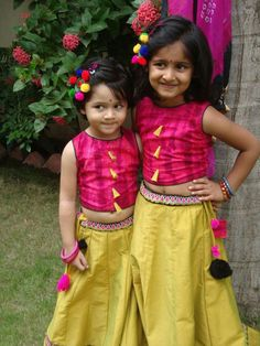 Lehenga Hairstyle For Kids Little Girl Dresses, Girls Dresses, Tutu Pattern, Indian Dresses For Kids, Kids Ethnic Wear, Baby Dress Design, Kids Lehenga, Skirts For Kids, Braids For Kids