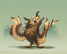 ArtStation - Owl painting, James Castillo ★ Find more at http://www.pinterest.com/competing/