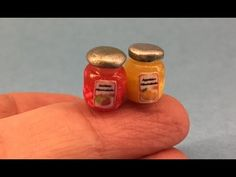 Polymer Clay Miniature 1 to 12 - Marmelade Jar - YouTube