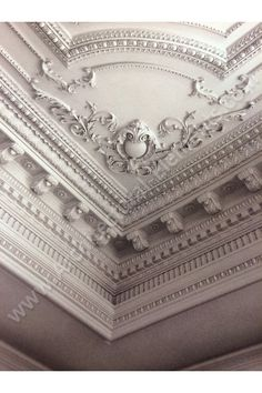 Mouldings, Moldings, Corbels, Onlays create this extraordinary ceiling