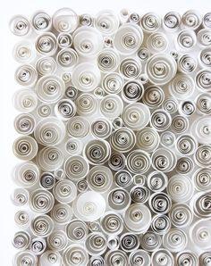 Momichka: White Paper Sculpture - SWIRLS