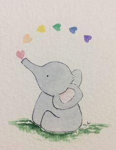 Heart elephant,rainbow,bubbles,Neutral nursery art,unisex children art,nursery art,baby art,framed illustration,watercolour,new baby gift by DaisyChainArtUk on Etsy https://www.etsy.com/uk/listing/492846455/heart-elephantrainbowbubblesneutral