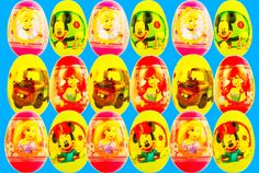 12 surprise eggs open peppa pig and masa i medved сюрприз открывают свин...