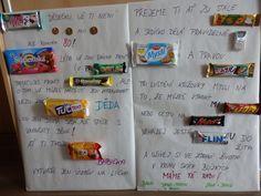 Přáníčko ze sušenek pro dědečka k 80.narozeninám - vlastní výroba ;-)