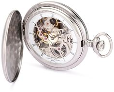 Charles-Hubert, Paris 3906-W Premium Collection Stainless Steel Satin Finish Hunter Case Mechanical Pocket Watch    Gold Pocket Watches For Sale  Large Pocket Watch  Masonic Pocket Watch  Bulova Pocket Watch  Pocket Watch Vintage  Old Fashioned Pocket Watch  Patek Philippe Pocket Watch  Watch It Pocket Watch