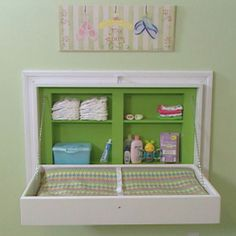 Do we think my handy dandy hubby could do this? Folding baby changing table. DIY