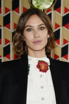 Best Celebrity Beauty Looks This Week  - Alexa Chung at Gucci with brushed up brows and smokey brown eye makeup