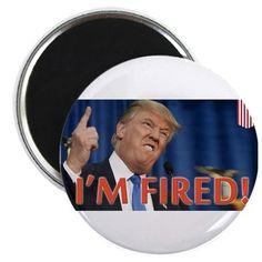 Trump fired round Magnet on CafePress.com  #DumpTrump #magnets #election2016 #satire #parody