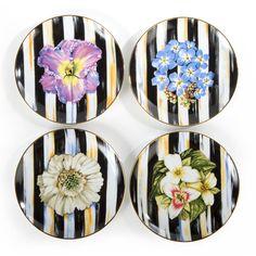 MacKenzie-Childs | Thistle & Bee Salad Plate - Iris