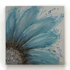Easy Canvas Painting Ideas - Check out our latest collection of ideas featuring Super Easy DIY Canvas Painting Ideas For DIYSIDEAS. Simple Oil Painting, Simple Canvas Paintings, Easy Canvas Painting, Diy Canvas Art, Diy Painting, Canvas Ideas, Art Paintings, Blue Painting, Painting Flowers