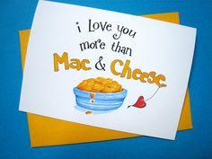 Valentines Day Card. I Love You More Than Mac and by PattieJansen