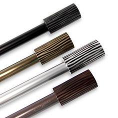 Trend Elm Adjustable Black Curtain Rod (120 to 170 inch, Antique Brass), Grey Metallic