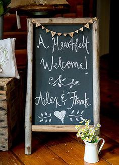 Chalkboard signs are a sweet way to add a touch of rustic charm to your day.