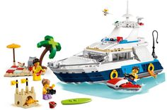 Buy LEGO Creator 31083 Cruising Adventures from our Construction Toys range at John Lewis & Partners. Lego Creator, The Creator, Lego Winter, Interlocking Bricks, Life Preserver, Brick Design, Buy Lego, Creative Play, Luxury Yachts