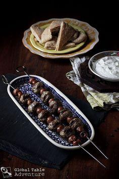Syrian Lamb kebabs with Sour Cherries | Kebab Karaz