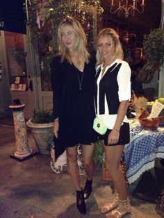 Maria's Twitter: Ran into Maria last night at our favorite Russian spot in New York #blackskinnyboots #misstheusopen