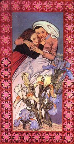 Stanisław Wyspiański, caritas - panneau from St. Francis of Assisi's Church, Kraków, 1904