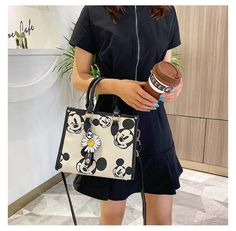 This Cream and Black Mickey Purse Will Always Be In Style - bags -