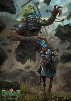 View an image titled 'Golyat Art' in our Gwent: The Witcher Card Game art gallery featuring official character designs, concept art, and promo pictures. High Fantasy, Medieval Fantasy, Witcher Monsters, Dnd Monsters, Game Art, Character Art, Character Design, The Witcher Books, Witcher Art