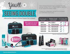 Take advantage of the REWARDS while you can. That's right your seeing double, double the hostess rewards. Gather some friends & family & have a on-line catalog party. Any order you place that totals $200 or more you can earn up to 10 items at half price. Why not earn your favorite self-protection items at 1/2 OFF. Offer ends 1/31/16. Visit my site or contact me at www.mydamselpro.net/ocdamsel & Like my page at facebook.com/ocdamsel. Thank you!