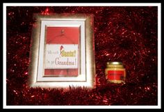 Personalized christmas gift set of: rejuvenate salve and grandma christmas frame