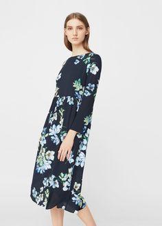 Vestido estampado flores - Vestidos de Mujer   MANGO España