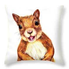 Squirrel Drawing - Seamus Says Hello by Margaret Sanderson Squirrel Tattoo, Squirrel Art, Cute Squirrel, Squirrels, Baby Animals, Funny Animals, Cute Animals, Animal Drawings, Art Drawings