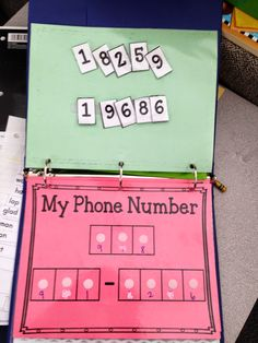 Fun way to practice your phone number -and other Morning Work Binders