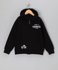 Take a look at this Black Property of Case IH Zip-Up Hoodie - Toddler & Boys by International Harvester on #zulily today!