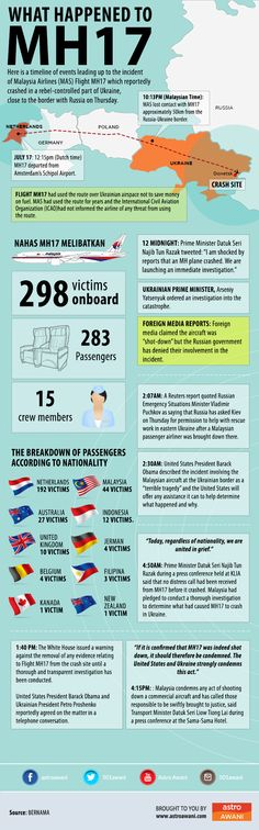 What happened to Malaysia Airlines #MH17 #Infographic