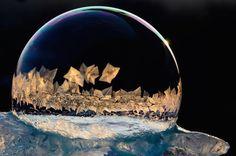 神秘的な雪の結晶