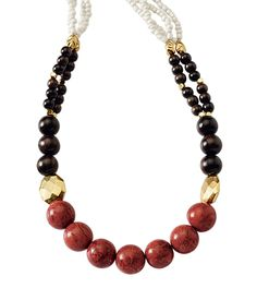 The Tangier necklace will enliven any look with bold color. Buy 2/Get 4 higher priced items 50% off in February!  www.liasophia.com/cilla