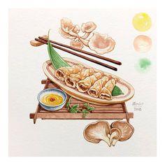 Hôm nay là ngày Thần Tài đó nha, ăn chay cho lòng an yên! My illustrated for chef Thieu Anh #vietnamesefood #food #foodillustration #illustration #fooddelicious #delicious #vietnammienngon #vietnamdelicious #watercolor #watercolour #instagood #instalike #instafollow #instalove #instaphoto #instacolor #instaart #instacuisine #cuisine #taste #art #potd #photooftheday #good #love #follow #naungonanlanh #lerin