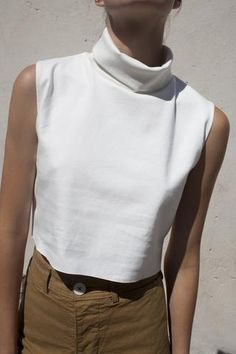 Jesse Kamm Cream Petite Tortou Top | Oroboro Store | Brooklyn, New York