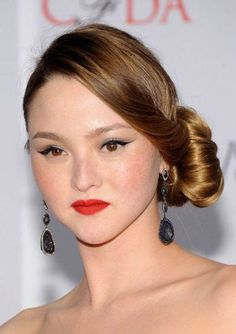 Devon Aoki's Side Chignon Hairstyle - Formal, Prom, Wedding -  Careforhair.co.uk