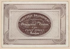 Vizetelly, Branston & Co. Engravers and Ornamental Printers