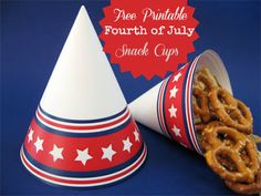 4th of July Snack Cups