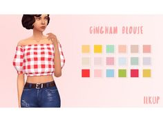 The Sims 4 Gingham Blouse by ilkup