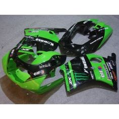 Kawasaki NINJA ZXR250 1993-1996 ABS Fairing - Monster - Green/Black | $589.00
