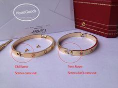 Cartier Love Bracelet old screw system and new screw system model, shipping worldwide, retail & whoesale. You can't go wrong with Cartier Love Bracelet. Love Bracelets, Cartier Love Bracelet, Bangles, Pink And Gold, White Gold, System Model, Rolex Day Date, Gold For Sale, Oyster Perpetual