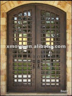 I want gates on our front entryway door Iron Front Door, Iron Doors, Iron Gates, Entrance Gates, House Entrance, Stainless Steel Screen, Window Inserts, Double Entry Doors, Knobs And Knockers