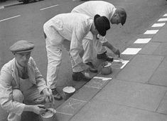 28 Aug 1939 - painting the kerb