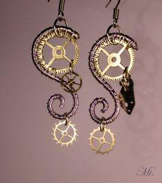 Steampunk Wire Works . Earrings